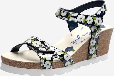 PANAMA JACK Sandalen met riem 'Julia Garden' in de kleur Navy / Groen / Wit, Productweergave