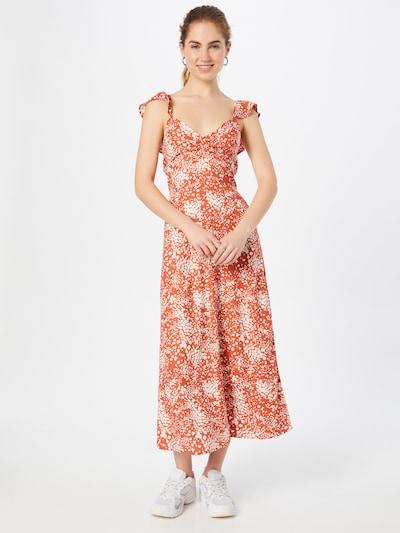Pimkie Kleid 'TODAYY' in cognac / weiß, Modelansicht