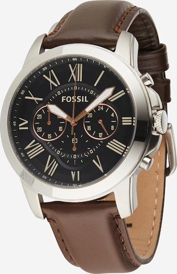 FOSSIL Zegarek analogowy 'Grant' w kolorze brązowy / jasnożółty / czarny / srebrnym, Podgląd produktu