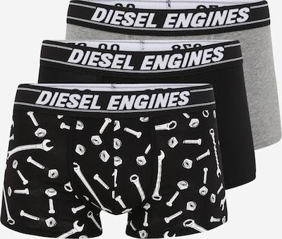 DIESEL Boxershorts in graumeliert / schwarz / weiß, Produktansicht
