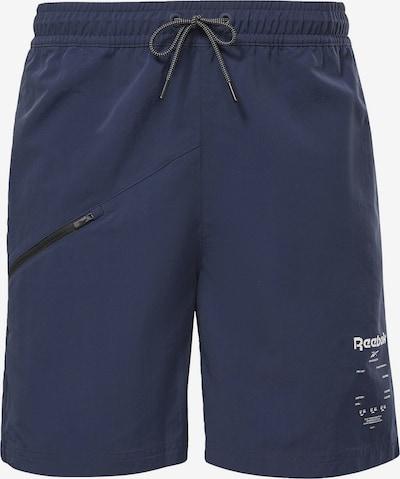 Reebok Sport Sporta bikses 'Road Trip', krāsa - tumši zils / balts, Preces skats