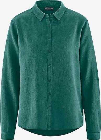 HempAge Bluse ' Klassische Langarmbluse ' in grün, Produktansicht