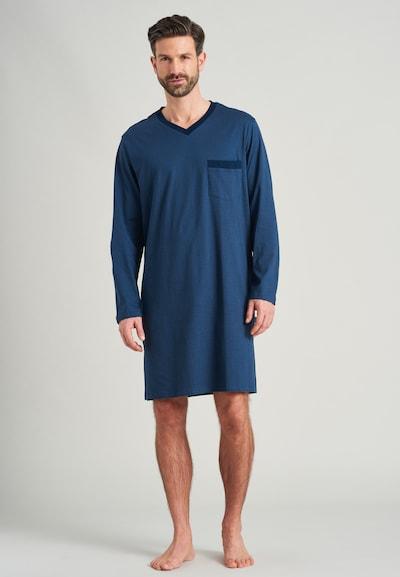 Pijama scurtă SCHIESSER pe albastru / albastru închis, Vizualizare model