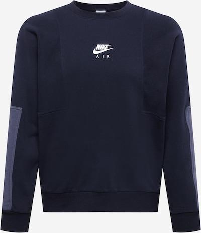 Nike Sportswear Sweater majica u tamo siva / crna / bijela, Pregled proizvoda
