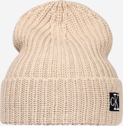 Calvin Klein Jeans Mütze in beige / schwarz, Produktansicht