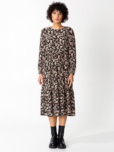 Indiska Kleid 'JULIA' in khaki / koralle / pfirsich / schwarz / weiß, Modelansicht