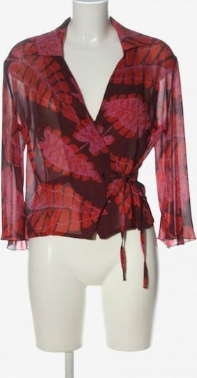 Cassis Wickel-Bluse in L in braun / rot, Produktansicht