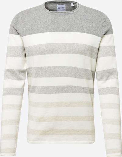 Only & Sons Pullover 'Don' in beige / graumeliert / weiß, Produktansicht