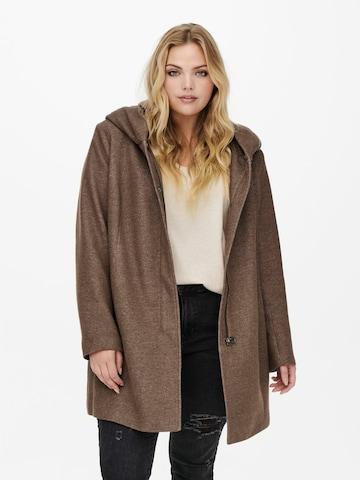 ONLY Carmakoma Between-seasons coat 'Sedona' in Brown