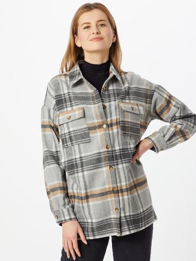 Noisy may Hemd in braun / grau / weiß, Modelansicht
