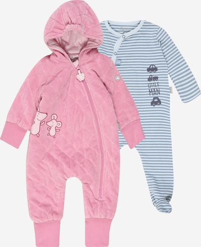 SIGIKID Romper/bodysuit in light blue / pink / white, Item view