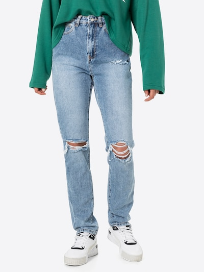 Missguided Jeansy 'JEAN' w kolorze jasnoniebieskim, Podgląd na modelu(-ce)