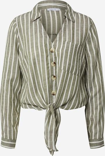Hailys Bluse 'Vicky' in khaki / weiß, Produktansicht