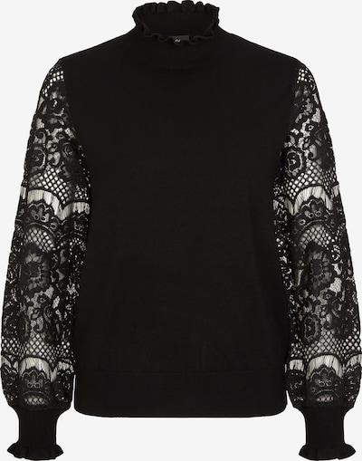 s.Oliver BLACK LABEL Pullover mit filigraner Spitze in schwarz, Produktansicht