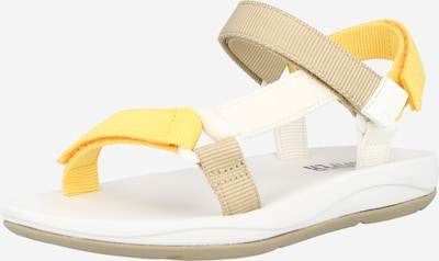 CAMPER Trekking sandal 'Match' in Light brown / Yellow / White, Item view