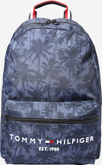 TOMMY HILFIGER Backpack in Dusty blue / Dark blue / Red / White, Item view