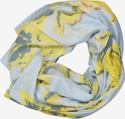 Gina Laura Schal 'feel good' in hellblau / gelb, Produktansicht