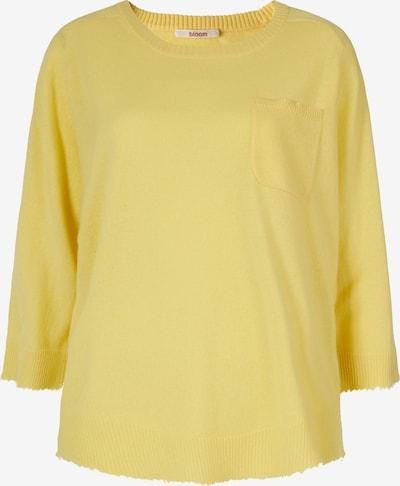BLOOM Kaschmirpullover mit Brusttasche in gelb, Produktansicht
