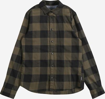 Jack & Jones Junior Hemd 'Egingham' in khaki / schwarz, Produktansicht