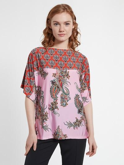 Ana Alcazar Bluse 'Donasy' in rosa / rot / schwarz, Modelansicht