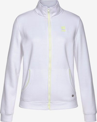 HIS JEANS Zip-Up Hoodie in White, Item view