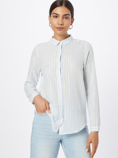 ICHI Bluse i opal / sølv / hvid, Modelvisning