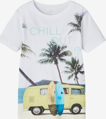 NAME IT Shirt 'VW TOMAS' in White