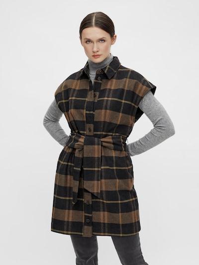 OBJECT Weste 'Ellinor' in braun / schwarz, Modelansicht