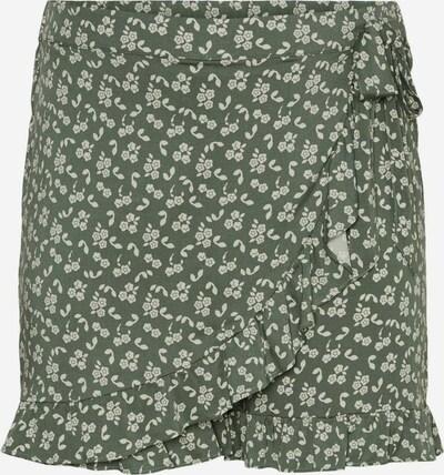 Vero Moda Curve Shorts in grün / weiß, Produktansicht
