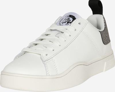 DIESEL Baskets basses 'CLEVER' en argent / blanc, Vue avec produit