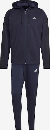 Treniruočių kostiumas iš ADIDAS PERFORMANCE, spalva – tamsiai mėlyna / balta, Prekių apžvalga