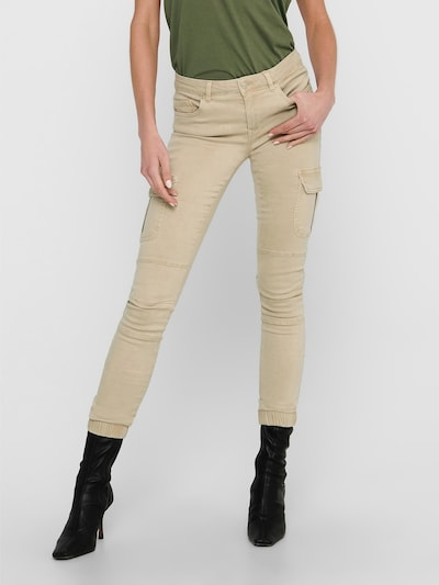ONLY Pantalon cargo 'ONLMISSOURI' en beige, Vue avec modèle