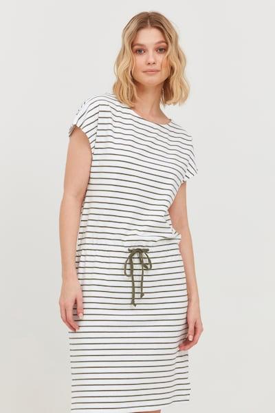 b.young Sommerkleid in oliv / weiß, Modelansicht