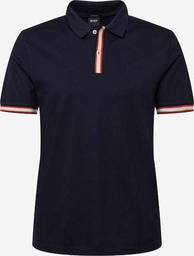 BOSS Casual Тениска 'Parlay' в тъмносиньо / ръждиво кафяво / бяло, Преглед на продукта