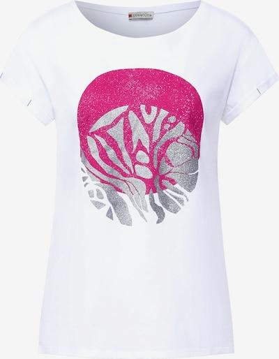 STREET ONE Shirt in pink / silber / weiß, Produktansicht