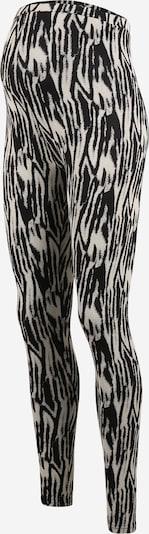 MAMALICIOUS Leggings 'Sebra' in de kleur Beige / Zwart, Productweergave