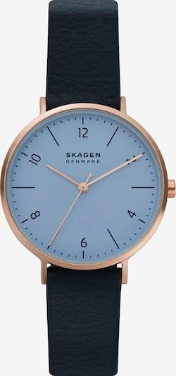 SKAGEN Uhr in rauchblau / dunkelblau / rosegold, Produktansicht
