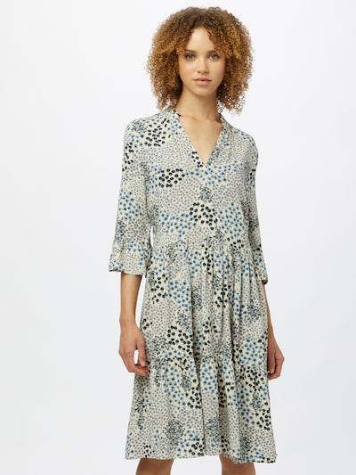 SAINT TROPEZ Kleid 'Eda' in beige / navy / opal / hellblau, Modelansicht