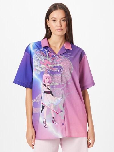 WEEKDAY Bluse 'Tinsley' in lila / mischfarben, Modelansicht