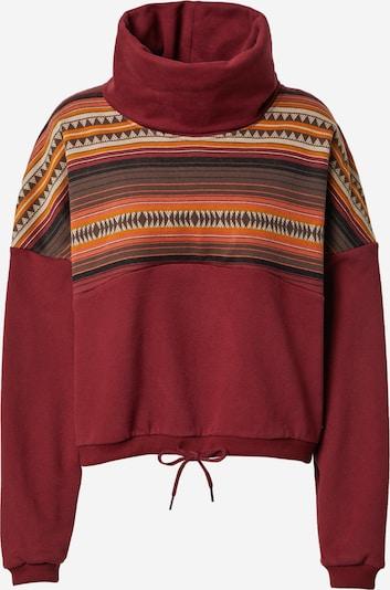Iriedaily Sweatshirt 'Sekani' in kitt / braun / lachs / dunkelorange / pastellrot, Produktansicht