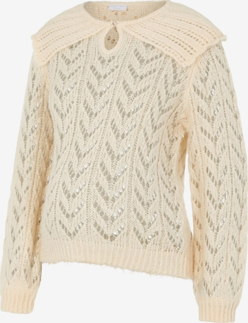 Pieces Maternity Pullover 'Frida' in Beige
