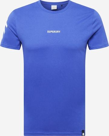 Superdry Sportshirt in Blau