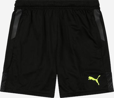 PUMA Športové nohavice - žltá / sivá / čierna, Produkt