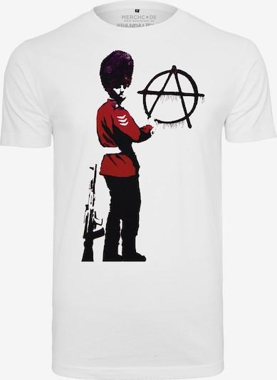 Merchcode T-Shirt 'Banksy´s Graffiti Anarchy' in rot / schwarz / weiß, Produktansicht