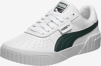 PUMA Zemie brīvā laika apavi 'Cali', krāsa - tumši zaļš / balts, Preces skats