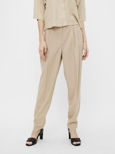 OBJECT Voltidega püksid 'Blace' kreem, Modellivaade