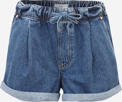 Pantaloni cu cute River Island Petite pe albastru denim, Vizualizare produs