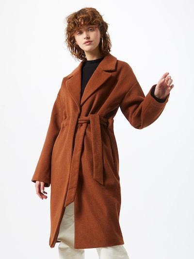 Palton de primăvară-toamnă NA-KD pe maro ruginiu, Vizualizare model