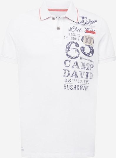 CAMP DAVID T-Shirt en baie / noir / blanc, Vue avec produit