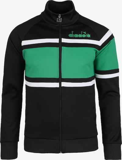 Diadora Sportsweatvest '80S' in de kleur Groen / Gemengde kleuren / Zwart / Wit, Productweergave